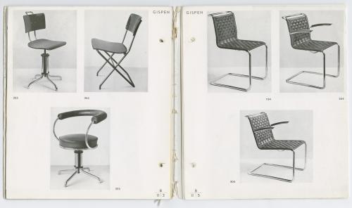 Gispen meubelcatalogus. Collectie Het Nieuwe Instituut