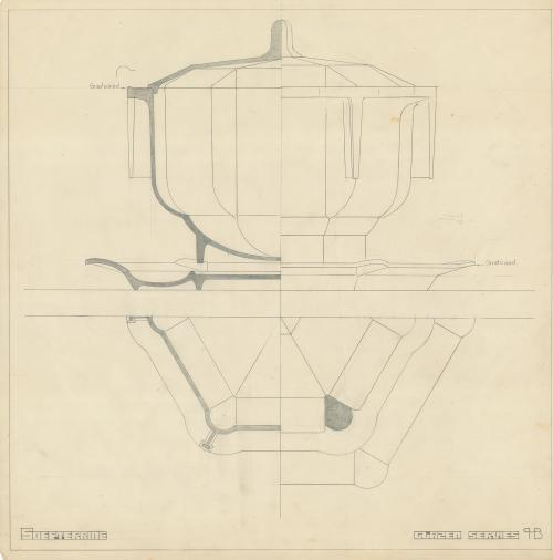 Design drawing from the archives of H.P. Berlage. Collection Het Nieuwe Instituut. BERL 283.36