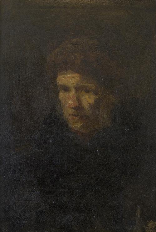 Portret, toegeschreven aan Jozef Israëls.Collectie Het Nieuwe Instituut. Bruikleen BIHS