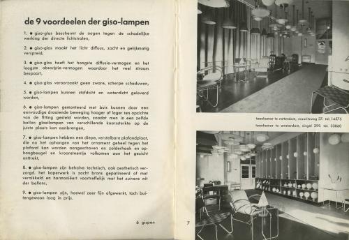 'De 9 voordeelen der giso-lampen'. Catalogus Gispen. Collectie Het Nieuwe Instituut