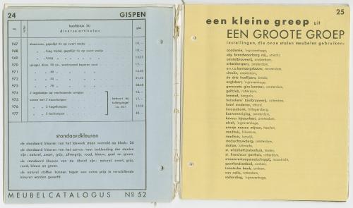 Een greep uit de klantenkring van Gispen. Catalogus Gispen. Collectie Het Nieuwe Instituut