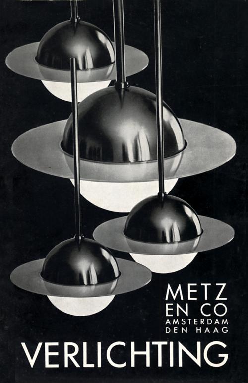 Omslag catalogus Metz & Co. Verlichting, ca. 1934. Collectie Het Nieuwe Instituut, BERK A1
