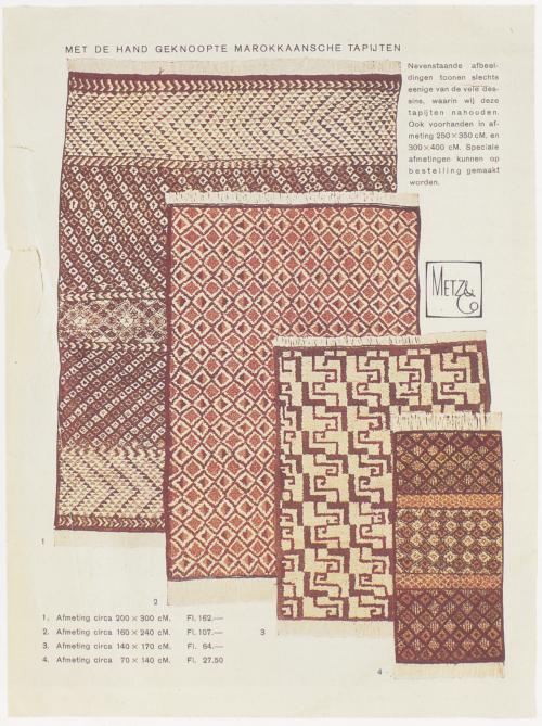 Pagina uit de catalogus van Metz & Co.