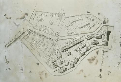 Plattegrond Weissenhofsiedlung. Collectie Het Nieuwe Instituut. OUDJ ph404