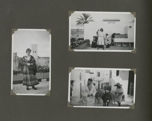 Pagina uit een fotoalbum van de familie. Collectie Het Nieuwe Instituut, bruikleen BIHS
