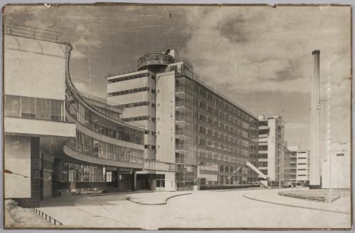 Van Nelle Fabriek, Rotterdam, 1923-1930. Architect: J.A. Brinkman en L.C. van der Vlugt. Fotograaf: onbekend. Collectie Het Nieuwe Instituut TENT_p2