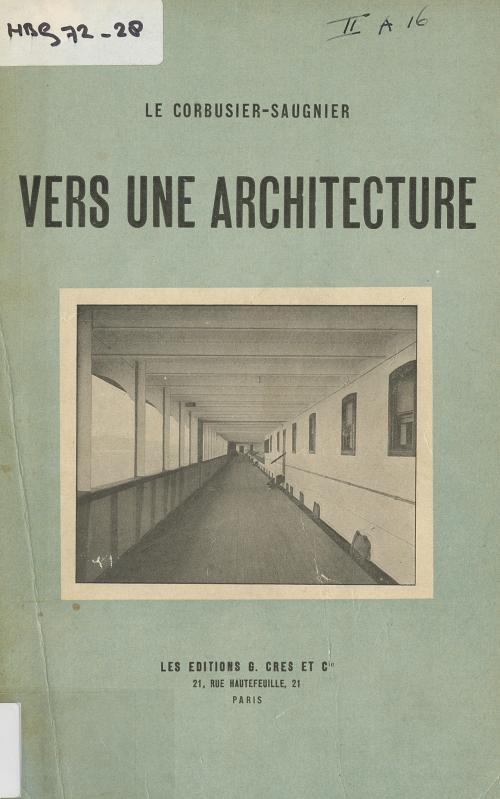 Omslag 'Vers une architecture'. Collectie Het Nieuwe Instituut