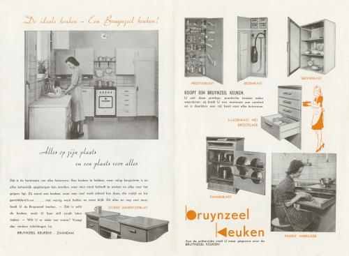 Piet Zwart Keuken Bruynzeel : Brochure Bruynzeel keukens. Collectie Het Nieuwe Instituut